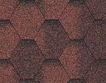 Купить битумную черепицу Акваизол Красная ЭКО Мозайка